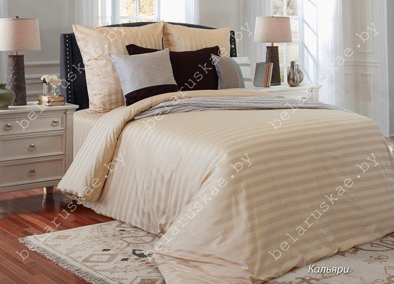 Постельное белье 1,5 спальное Блакит арт. 4248 Кальяри, рис. 13-1014, страйп-сатин