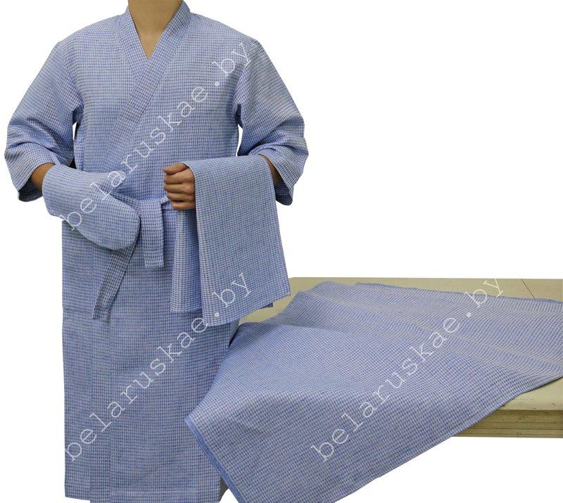 Комплект для бани женский  (Халат, рукавица, 2 полотенца) 14С129_282_27, р-р 170,176- 96,100 (р.48,50)