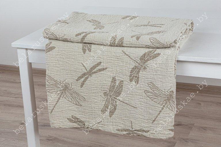 Плед льняной 18С198_480_330 Стрекоза-1 Белорусский лен, размер 140х200 см