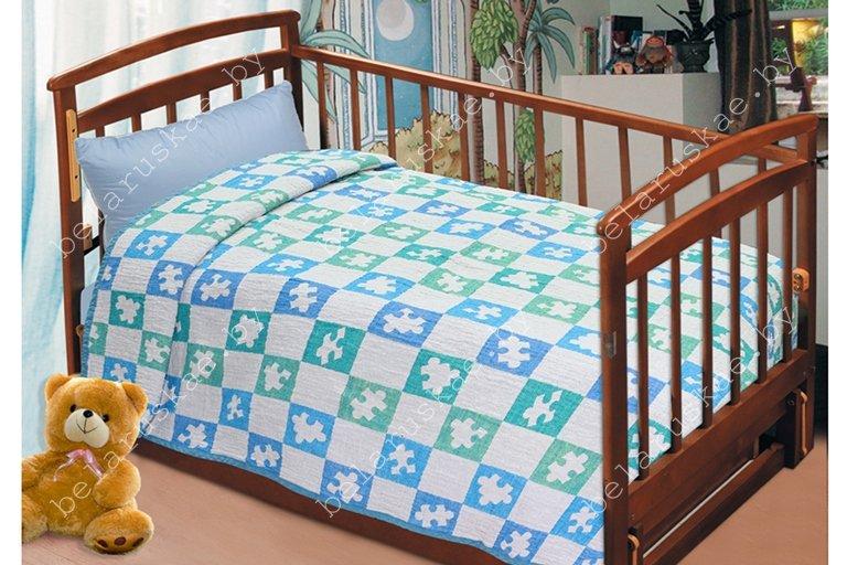 Плед детский льняной 12С568_145_18 Пазл Оршанский льнокомбинат, размер 190х110 см или 200х125 см