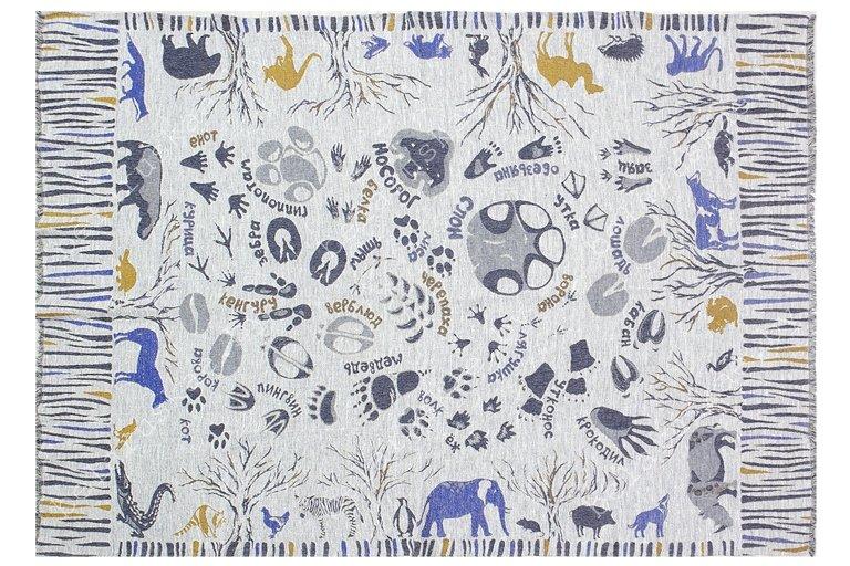 Плед льняной 18С240_479_1 Зоопарк Белорусский лен Оршанский льнокомбинат, размер 180х120 см