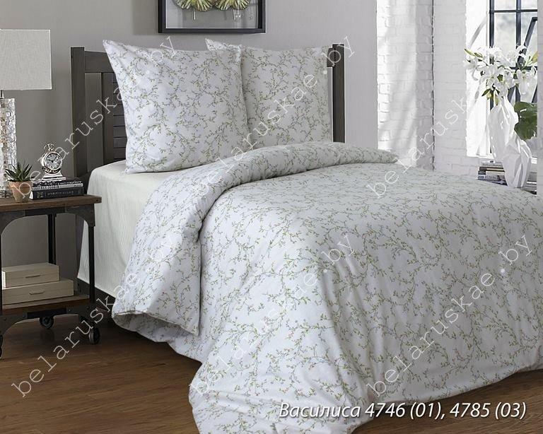 Постельное белье 1,5 спальное Блакит арт. 3315 Василиса, рис. 474601, поплин
