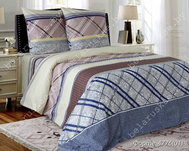 Постельное белье 1,5 спальное Блакит Премиум арт. 4131 Форте, рис. 477601, бязь премиум