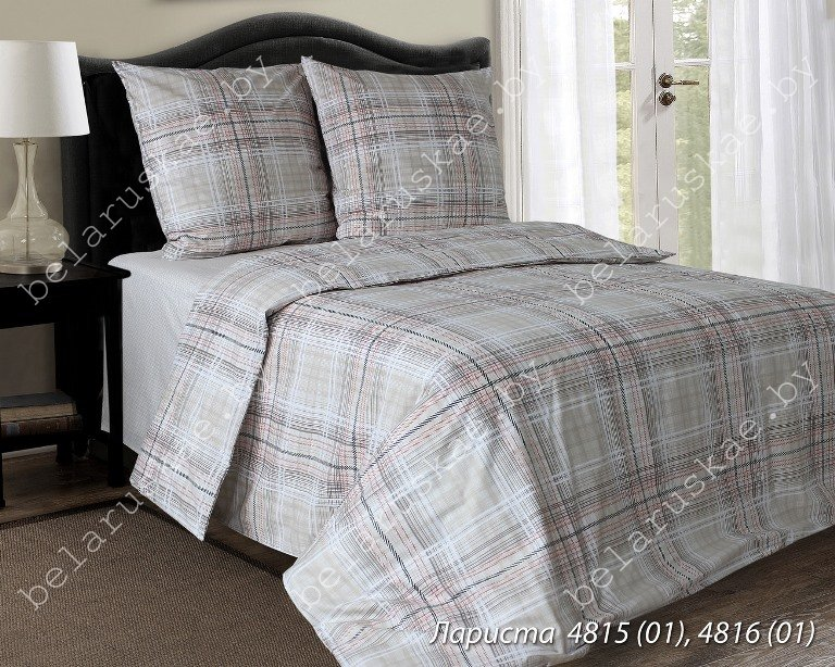 Постельное белье 2-х спальное Блакит Премиум арт. 4133 Лариста, рис. 481501, бязь премиум