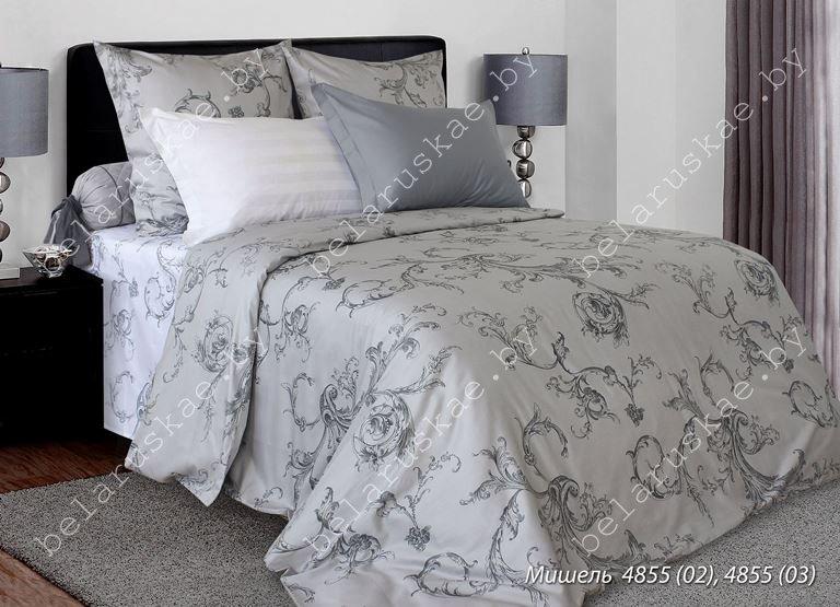 Постельное белье 1,5 спальное Блакит арт. 4248 Мишель, рис. 485502, страйп-сатин