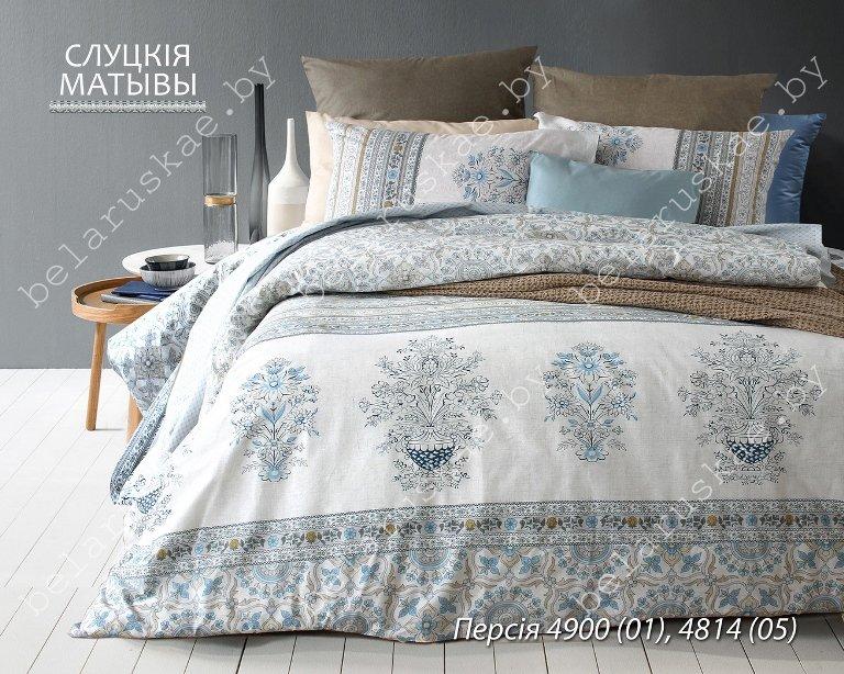 Постельное белье 2-х спальное Блакит Премиум арт. 4132 Персия, рис. 490001, бязь премиум
