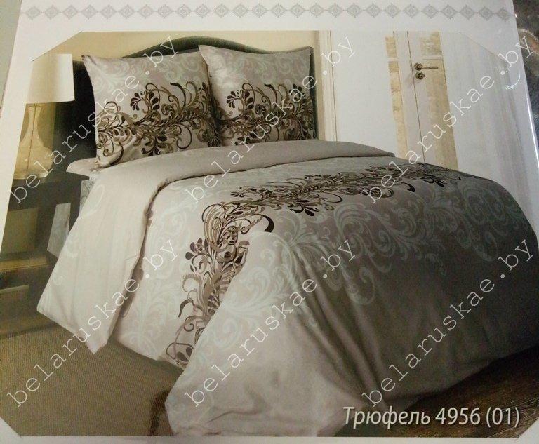 Постельное белье 2-х спальное Паулинка арт. 4125 Трюфель, рис. 495601, бязь
