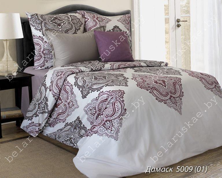 Постельное белье 1,5 спальное Блакит арт. 3315 Дамаск, рис. 500901, поплин