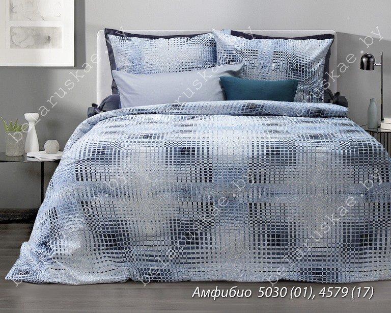Постельное белье Евро Блакит Премиум арт. 4134 Амфибио, рис. 503001, бязь премиум