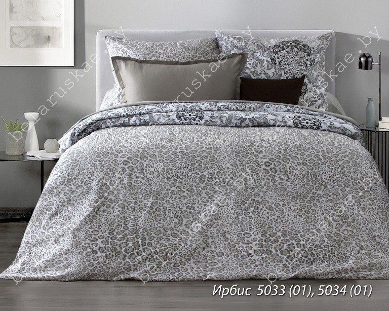 Постельное белье 1,5 спальное Блакит Премиум арт. 4130 Ирбис, рис. 503301, бязь премиум