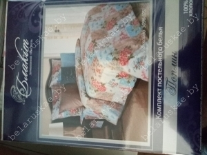Постельное белье 2-х спальное Блакит арт. 3807 Хоккайдо, рис. 509605, поплин