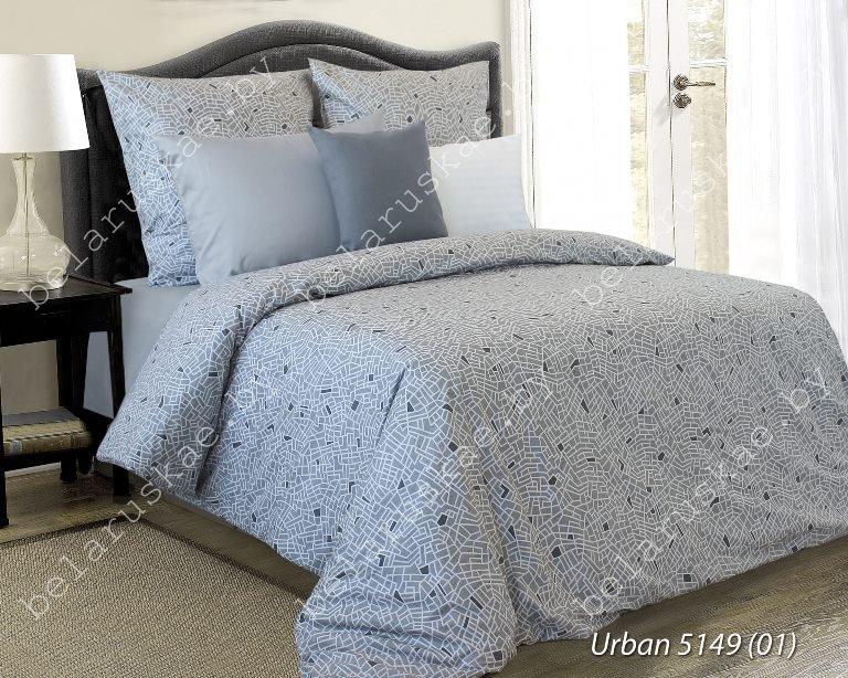 Постельное белье 2-х спальное Блакит арт. 3807 Урбан, рис. 514901, поплин