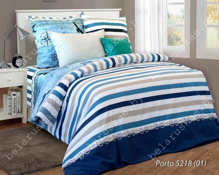 Постельное белье 2-х спальное Паулинка арт. 4125 Порто, рис. 521801, бязь
