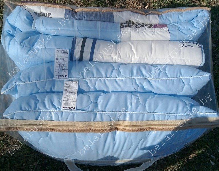Комплект спальный тяжелый евро (Одеяло + 2 Подушки) Камиса Kamisa, КТ-200/50, бязь