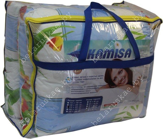 Комплект спальный летний полутороспальный (Одеяло + Подушка) Камиса Kamisa, КЛ-140/70, бязь