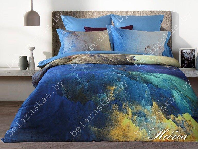 Постельное белье 2-х спальное Lusso арт. 4430 Небеса D44, сатин цифровая печать