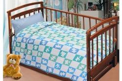 Плед детский льняной 12С568_145_18 Пазл Белорусский лен, размер 140х120 см