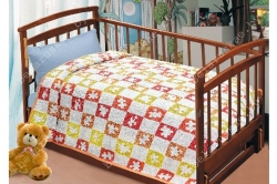 Плед детский льняной 12С568_145_29 Пазл Белорусский лен, размер 190х110 см или 190х125 см или 200х125 см