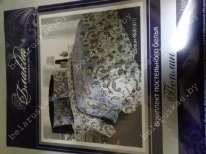Постельное белье 1,5 спальное Блакит арт. 3319 Дивин, рис. 468001, поплин